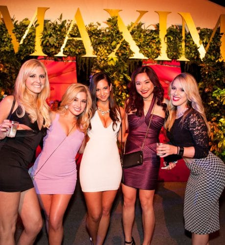 photo of girls on the maxim red carpet