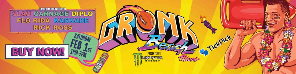 Gronk Beach Super Bowl Party Tick Pick