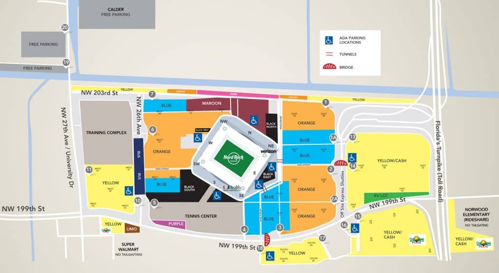 Super Bowl Parking - Hard Rock Stadium, Miami