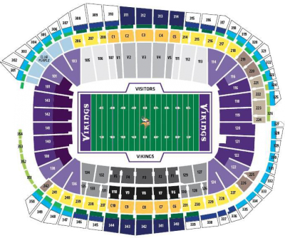 US Bank Stadium Seating Chart